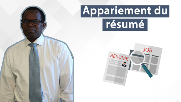 Accès-emploi | Appariement du CV – Application en ligne